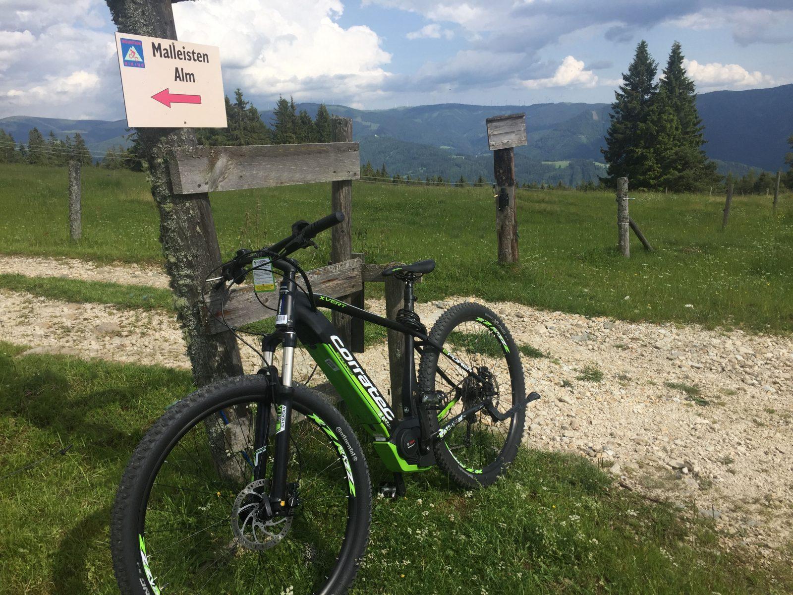 E-Mountainbike auf der Hönigsberg Alm, E-Bike